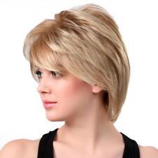 Fashion Women Boy Cut Short Fluffy Wig Synthetic Hair Full Wig Light Blonde