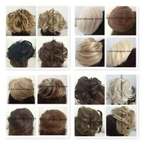 UK Bun Hairpiece Curly drawstring Hair Extension Cover Synthetic Real Looking