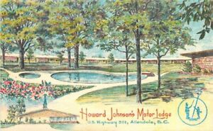 Allendale South Carolina Howard Johnson 's Lodge Restaurant Postcard 21-3654