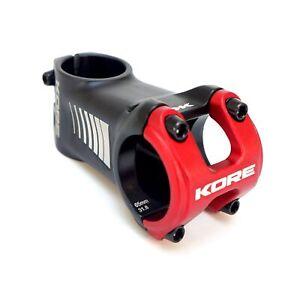 """Kore Cubix 1-1/8"""" 31.8mm x 65mm MTB DH Bike Stem Matt Black w/ Red Clamp Cap"""