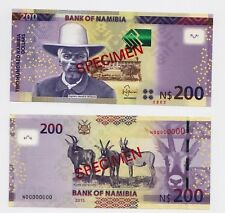 Specimen Set, Namibia, 200 Dollars, 2015, P-New, UNC