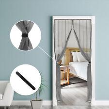 Fliegengitter Insektenschutz Tür Vorhang Magnet Mesh Moskitonetz Grau / Schwarz