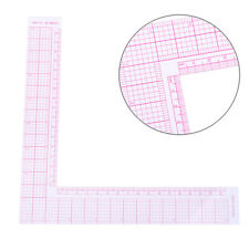 Garment Cutting Plastic L Shape Ruler For Sewing Accessories Patchwork Tools US