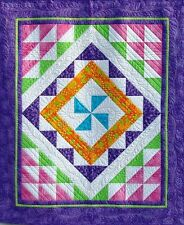 Scrappy Quilt Pattern - FAST & EASY - Trip Around the Rainbow - NEW - Cute #427