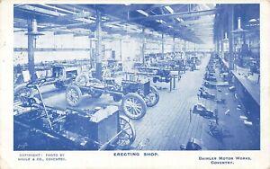 Daimler Motor Works Postcard: Erecting Shop, Coventry Theme