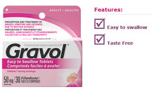 GRAVOL ADULTS EASY TO SWALLOW FILMKOTE FOR NAUSEA DIZZINESS VOMITING 30 TABLETS