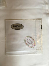 Monogrammed Handkerchief with purple letter Q in floral wreath. new in packet