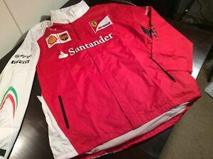 formula 1 - SCUDERIA FERRARI Santander hooded Rain Jacket (XXL) NWT