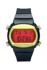 Adidas Armbanduhr Sportuhr Candy Kunststoff Schwarz Rot Digital ADH6071