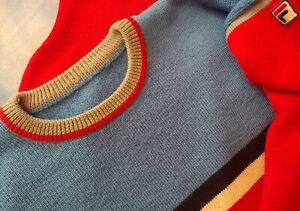 SWEATER vintage '80s FILA era Borg TG.48 veste M/L circa made in Italy RARE