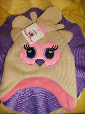 #8 Rugged Bear BABY Size 2T-4T Month Cap & Mittens Tan Pink Purple NEW REG $20