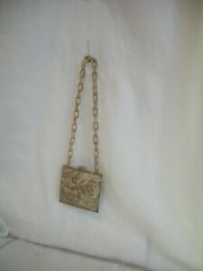 BEAUTIFUL LITTLE CELLULOID PURSE FOR YOUR GERMAN ANTIQUE DOLL