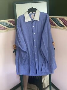 BROOKS BROTHERS VTG Cotton  Contrast Dress Shirt 17 -34 French Cuff