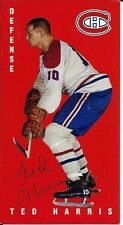 Autographed 1994 Parkhurst Tall Boy Ted Harris Card #78 Montreal Canadiens