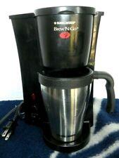 BLACK+DECKER Brew 'n Go Personal Coffeemaker with Travel Mug, Stainless Steel