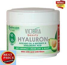 Hyaluronic Acid Matrixyl Avocado oil  D - panthenol antiwrinkle Day Night Cream