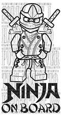 NINJAGO GREEN LLOYD SUPERHERO LEGO CHILD BABY ON BOARD vinyl sticker sign safety