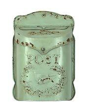 Creative Aqua Embossed Tin Letter Box