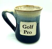 "Tumbleweed Pottery Mug ""Golf Pro"" Blue Coffee Mug  shelf2"