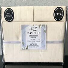 Bamboo Blend Comfort 1800 Series Luxury Sheet Set (4Pc) Full Ivory Deep Pockets