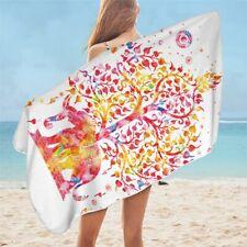 Pink Orange Elephant Animal Indian Boho Travel Holiday Beach Bath Summer Towel