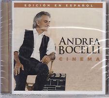 SEALED - Andrea Bocelli CD Cinema EDICION En Espanol 12 Tracks BRAND NEW