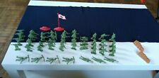 old vintage tan plastic toys soldiers S/H made in china S. H. green 46 pcs