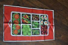 New listing Vintage Dish Bar Towel Irish Linen Vegetable Tray