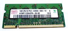 HYNIX, DDR2 SDRAM SO-DIMM, MEMORY MODULE,HYMP112S64CP6-S6, 1GB, PC2-6400S-666-12