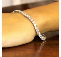 Christmas Sale Certified 6.00Ct Diamond Tennis Bracelet In Solid 14K White Gold