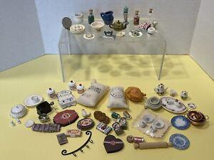 Vintage Kitchen Items Dishes Food Appliances Dollhouse Miniature 1:12
