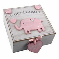 Baby Girl wooden Memories Keepsake Box Vintage Style CG1307P