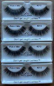 MODELROCK LASHES Kit Ready False Eyelashes 4 #212 eye lashes natural human hair