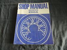 Taller Repair Shop manual Honda Z 50 a (k3 k4 k5) Guía de reparación