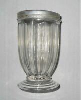 Vintage Glass Container Metal Jar Collectible Shaker