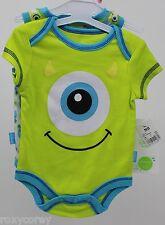 Disney Monster Inc Baby Boy Girl Bodysuit 2 Piece Set Size Newborn up to 7 lbs