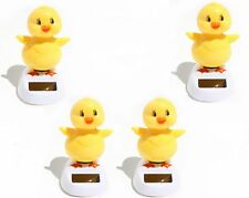 Set of 4 ~ Adorable ~ Who is that Chick ~  Dancing Yellow Chick Solar Toy