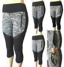 Women Gym Yoga Workout Fitness Active Wear Compression Capri Leggings Pants Sexy