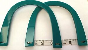 Pair (2) of U Shaped Bag Handles for Knitting or Sewing (Teal)