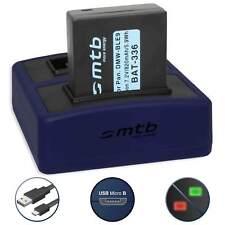 Batterie DMW-BLG10 + Chargeur pour Panasonic Lumix DMC-GX7,GX80,LX100 / DMC-ZS60