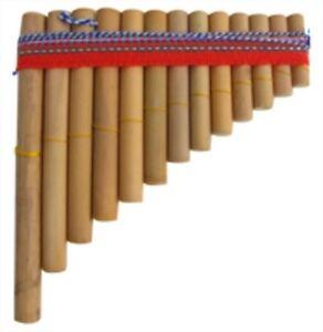 PAN PIPES GENUINE PERUVIAN FLUTES IN BAMBOO MADE IN PERU 17cm x 13cm PANPIPE