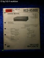 Sony Service Manual HCD H5900 Component System (#1456)