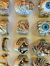 mix lots 50 Skull Rings For Resale 316L Stainless Steel Lion Other
