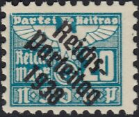 Stamp Germany Revenue Parteitag WWII 1938 3rd Reich War Era Party Due 0020 MNH