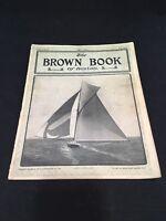 The Brown Book of Boston Magazine July 1902 Vol 5 No 3 Sailboat