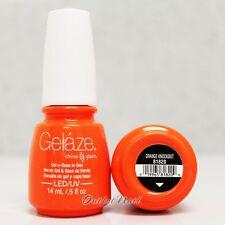 Gelaze China Glaze LED UV Nail Gel Color Polish 0.5 oz - Orange Knockout 81820