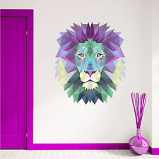 Lion Wall Decals Animal Decal Full Color Sticker Interior Art Home Design DD157