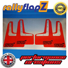 RallyflapZ SUBARU WRX/STI Qty4 Parafanghi & fissaggi Rosso plantare STI (LMS) Nero 4 mm PVC