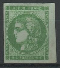 "FRANCE STAMP TIMBRE 42 Ba "" CERES BORDEAUX 5c VERT JAUNE FONCE"" NEUF x TB  N311"