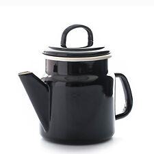 Dexam Vintage Home Black Coffee Pot Teapot Tea Pot 1.2L Enamel Kitchen Caravan